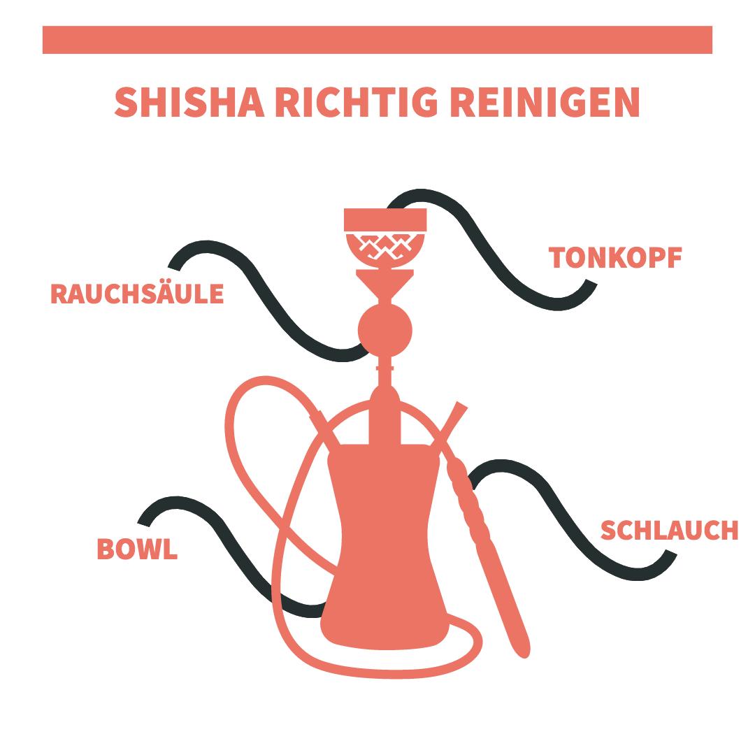 Shisha richtig reinigen