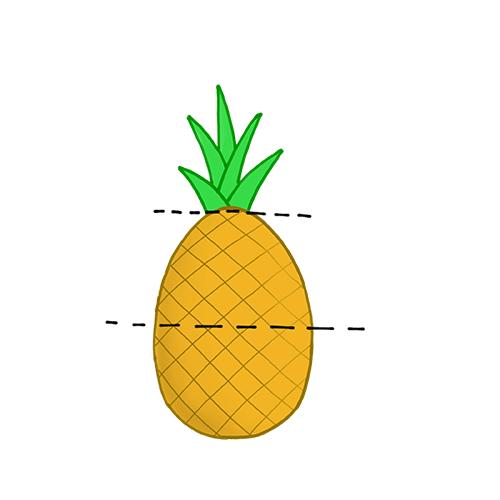 Fruchtkopf für die Shisha (Ananas)